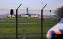 In december 2019 stond het gigantische Amerikaanse transportvliegtuig C-17 twee keer in één week op Volkel. Het gerucht ging dat de kernbommen vernieuwd werden. Maar volgens de Volkskrant ging het hoogstwaarschijnlijk om een oefening. De vernieuwing zou in 2022 plaatsvinden. ARCHIEFFOTO
