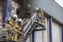 De brand woedde in de spouwmuur.
