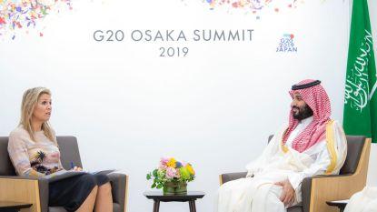 """Kritiek op ontmoeting Máxima met Saudische kroonprins: """"Zwijgen is medeplichtigheid"""""""