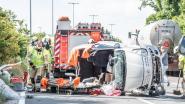 Zwaar ongeval tussen auto en tractor: gewestweg in Maarkedal afgesloten