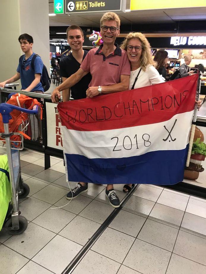 Ontvangst op Schiphol na de WK-titel
