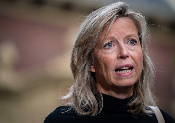 Demissionair Minister Kajsa Ollongren van Binnenlandse Zaken en Koninkrijksrelaties (D66)