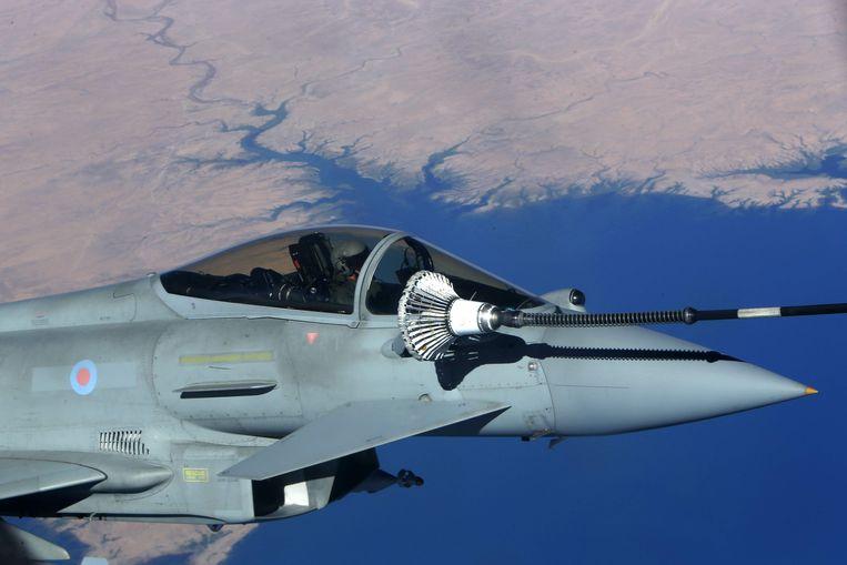 Saudi-Arabië is een van 's werelds grootste wapenimporteurs. In maart  bestelde het onder andere 48 Eurofighters, gemaakt door een groep Europese landen.  Beeld AFP