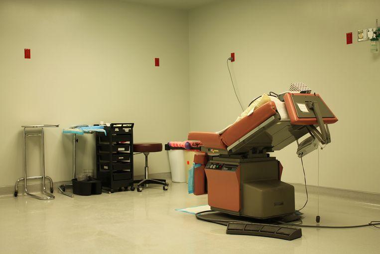 De behandelkamer in Wichita van abortuskliniek Trust Women. Beeld Seije Slager