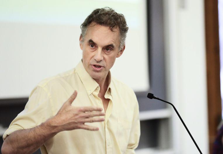 De Canadese professor psychologie en held van alt-right, gaf gisteren een lezing in Nederland. Beeld ZUMAPRESS.com