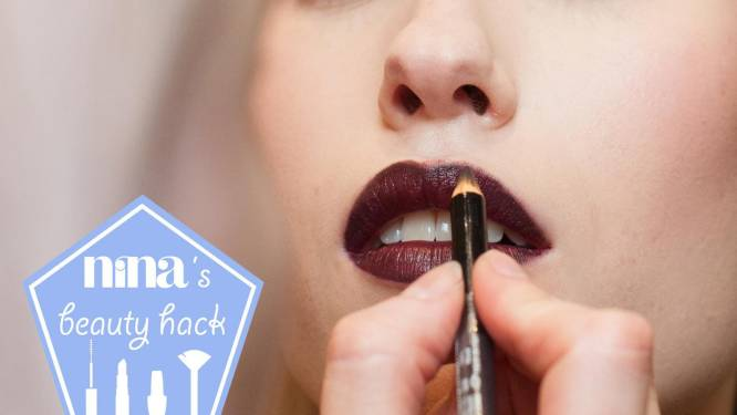 NINA's beauty hack: zo blijft je lipstick de hele avond zitten