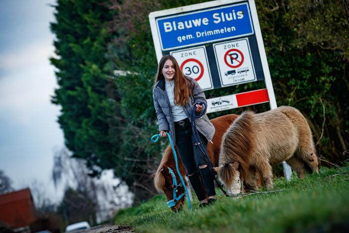 Jade Ansems is jong en woont in Blauwe Sluis. Ze heeft het daar erg naar haar zin, zeker met haar pony's Billy en Rocky.