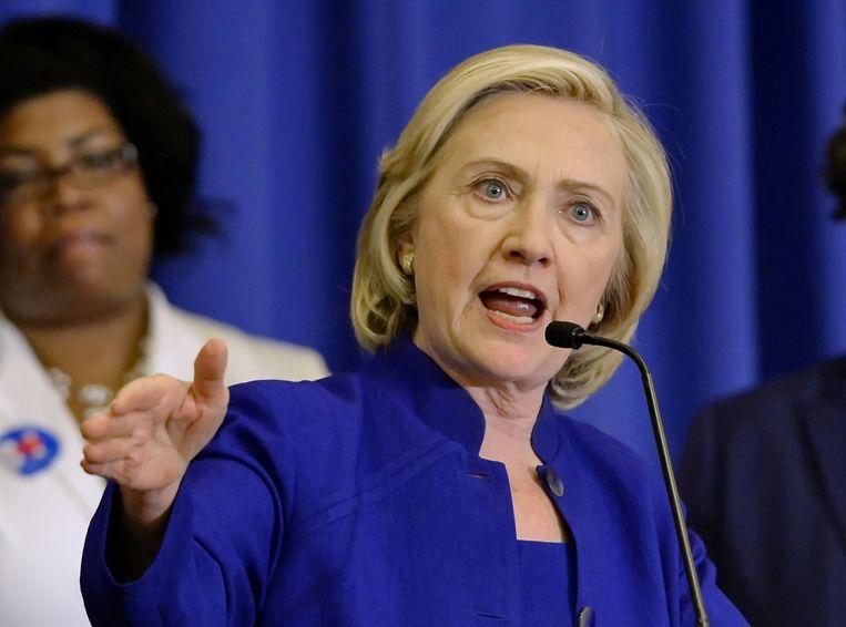 Hillary Clinton is topfavoriete bij de Democraten.
