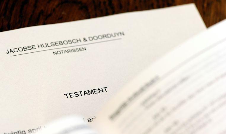 Een testament bij een notaris Beeld ANP XTRA