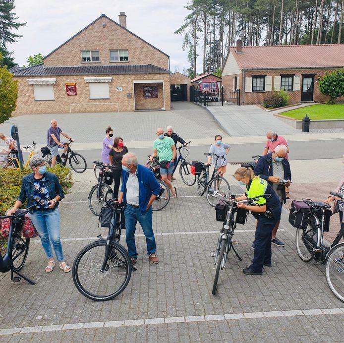 Er kwamen 91 fietsers opdagen in Veerle-Heide.