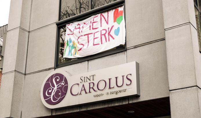 De keuze om aan Sint-Carolus actie te voeren, was bewust. Het woonzorgcentrum werd recent met een vrij zware corona-uitbraak geconfronteerd.