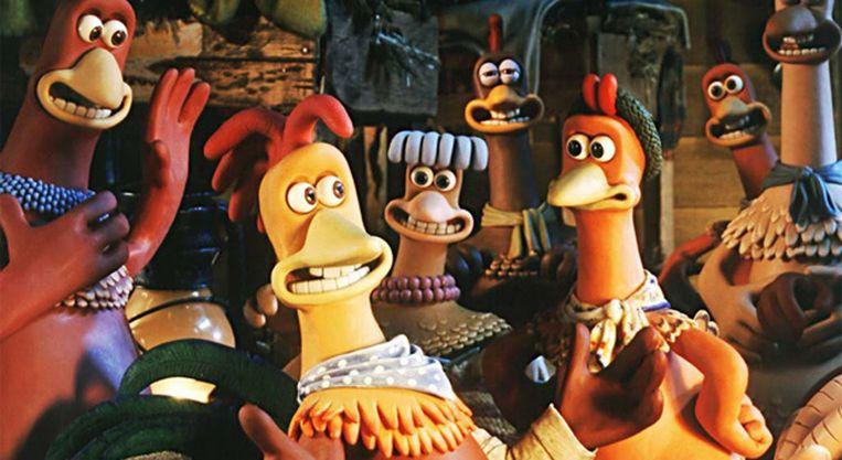 Beeld uit Chicken Run van Peter Lord en Nick Park. Beeld