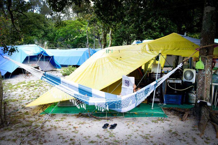 De Devillage-camping in Rio de Janeiro, tijdens het WK voetbal van 2014. Beeld ANP