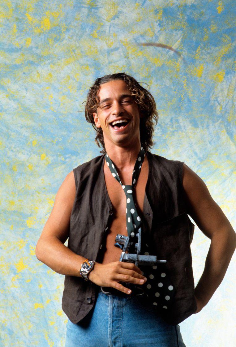 Eros Ramazzotti in zijn jongere jaren. Beeld Getty Images