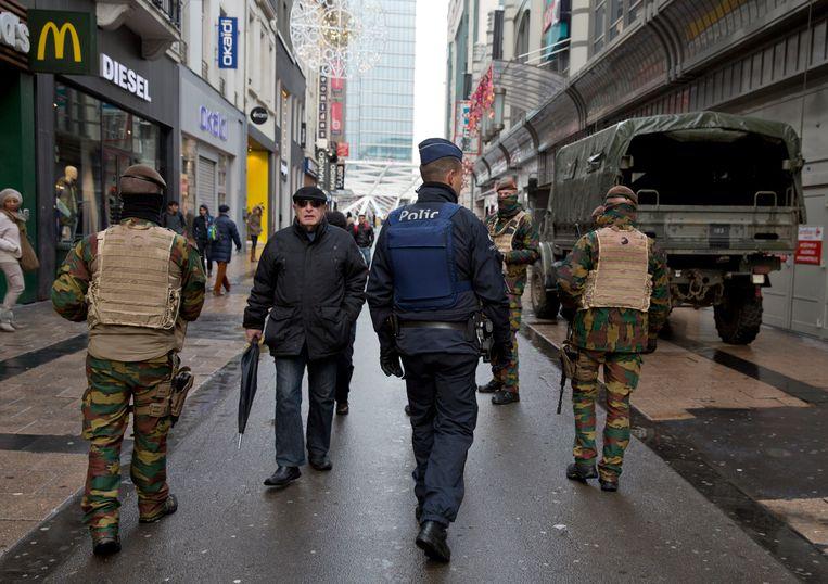 De Nieuwstraat in Brussel. Beeld AP