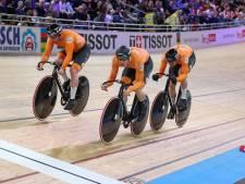 Teamsprinters met Lavreysen pakken goud op WK in nieuw wereldrecord