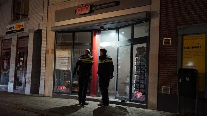 Bij Cigo in Deventer werd een inbraakpoging gedaan.