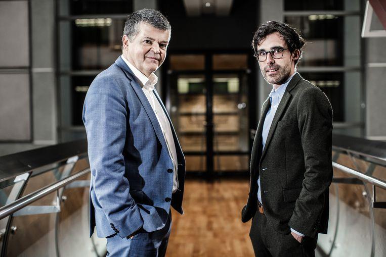 Bart Somers (Open Vld) en Kristof Calvo (Groen) tonen dat een samenwerking mogelijk is. Al is er nog een verschil tussen het lokaal en het federaal niveau. Beeld