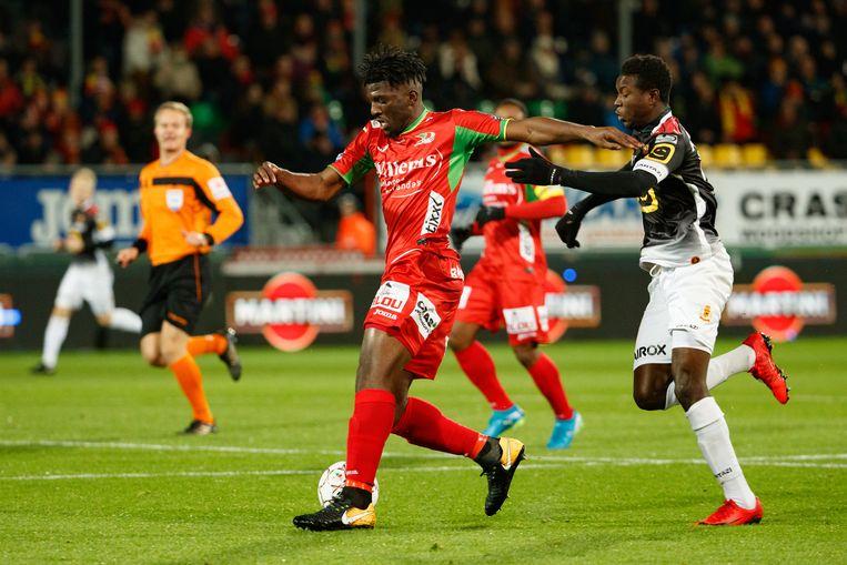 Door de vele blessures bij KV Oostende mocht youngster Bushiri opdraven tegen KV Mechelen.