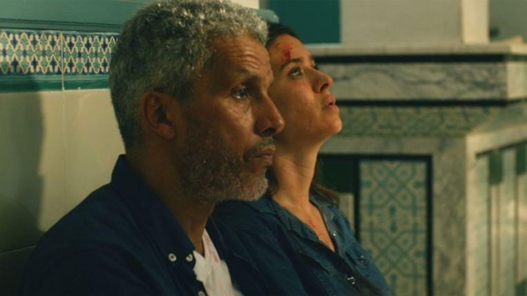 Sami Bouajila (als Fares) en Najla Ben Abdallah (Meriem) in 'Un fils'. Beeld /