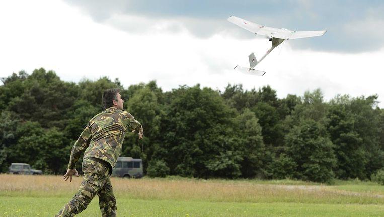 De Raven, het onbemande vliegtuigje dat al enige tijd door Defensie in gebruik is. Beeld ANP