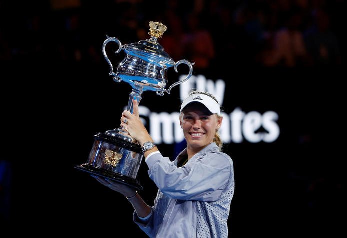Caroline Wozniacki veroverde in 2018 de Australian Open