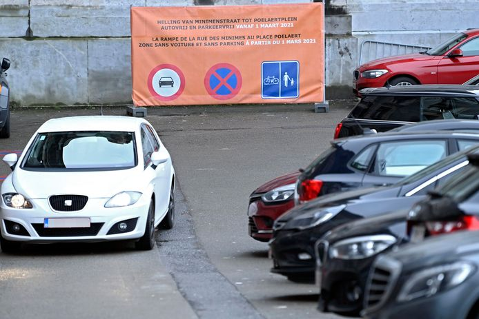 De parking van het Brussels Justitiepaleis.