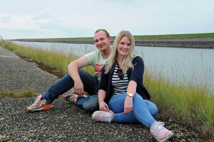 Stephan Dortwegt en Priscilla Bulte (hier in Zierikzee) wonen sinds november vorig jaar samen in Burgh-Haamstede