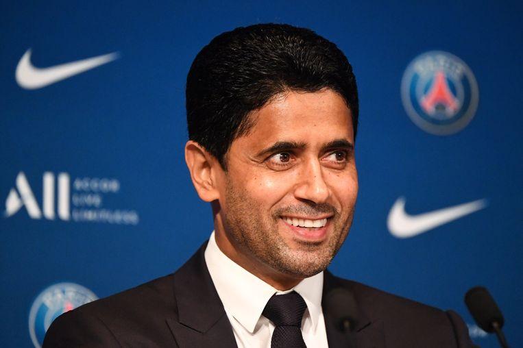De baas van Paris Saint-Germain is de zoon van een parelvisser en was als jongere dol op tennis. Hij speelde zelfs in de Davis Cup. Beeld Photo News