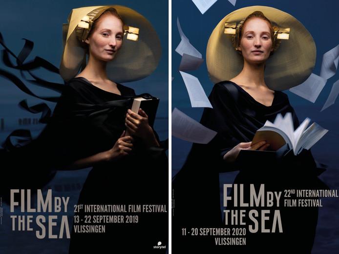 Links de poster van Film by the Sea 2019, rechts de poster voor de editie 2020