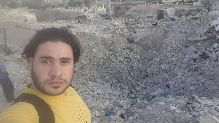 'Ze gebruiken een nieuw type raket dat hele gebouwen wegvaagt.' Beeld Hozaifa Dahmaan