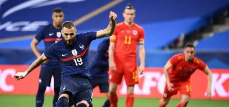Frankrijk ondanks misser Benzema te sterk voor Wales, Duitsland niet langs Denemarken