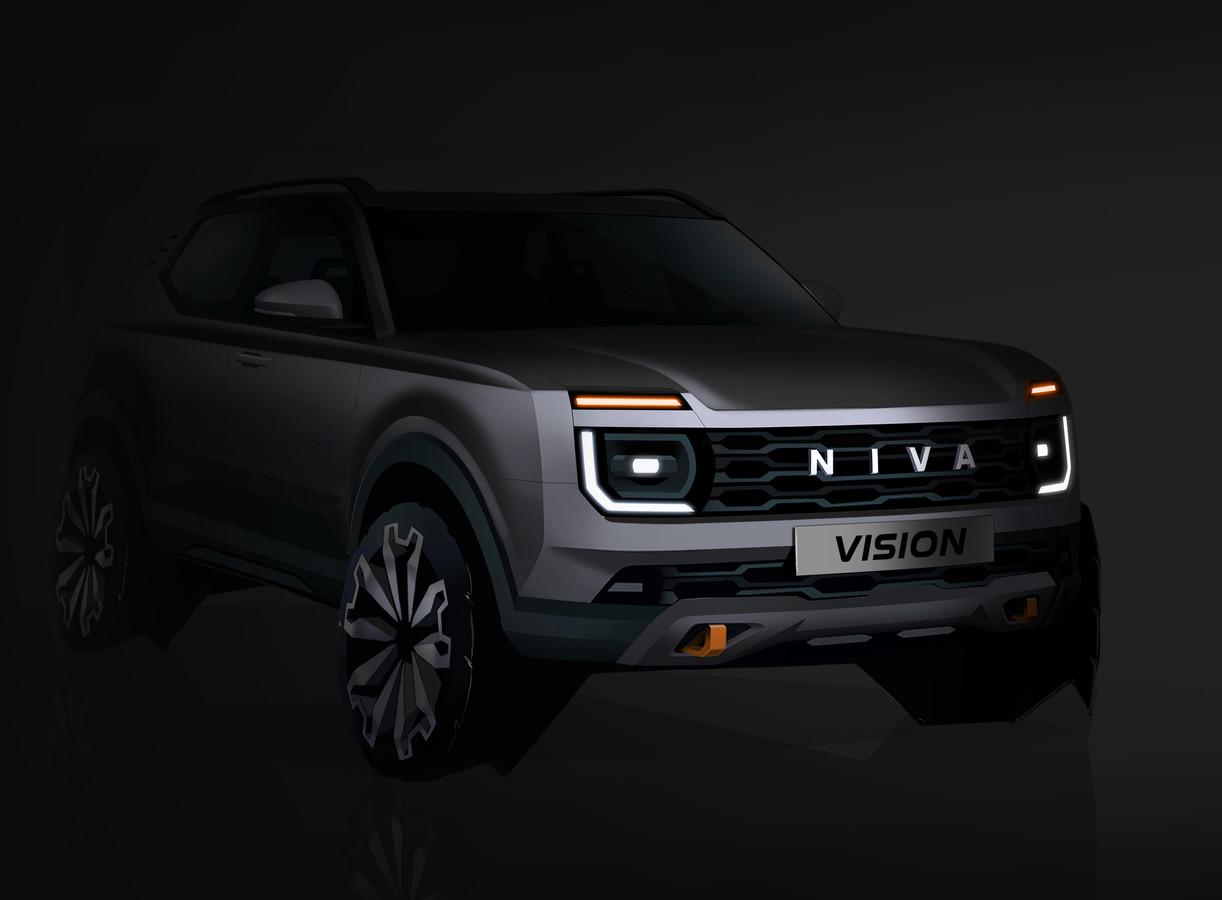 Deze schets laat alvast een stukje zien van de nieuwe Lada Niva. Onder de vleugels van Renault is dat Russische merk bezig aan een wederopstanding