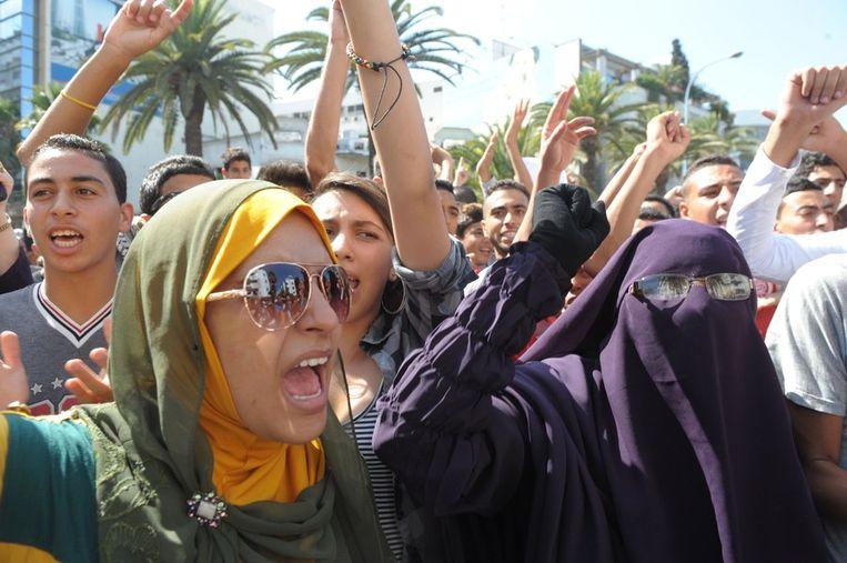 De omstreden film lokt in tal van moslimlanden hevig protest uit. Beeld AFP