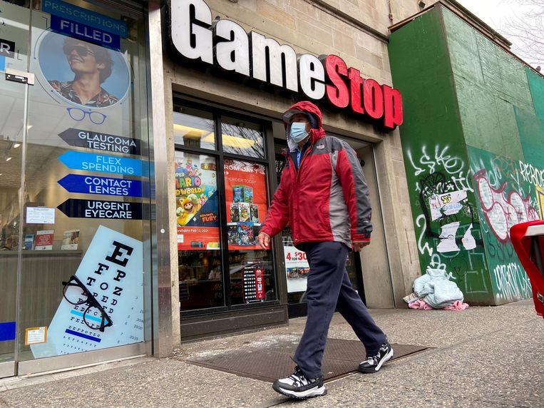 Een GameStop-filiaal in New York. Beeld Nick Zieminski / Reuters