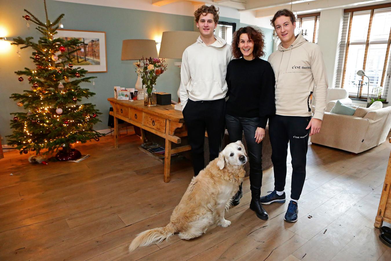 Sandra Gevaert met haar gezin.