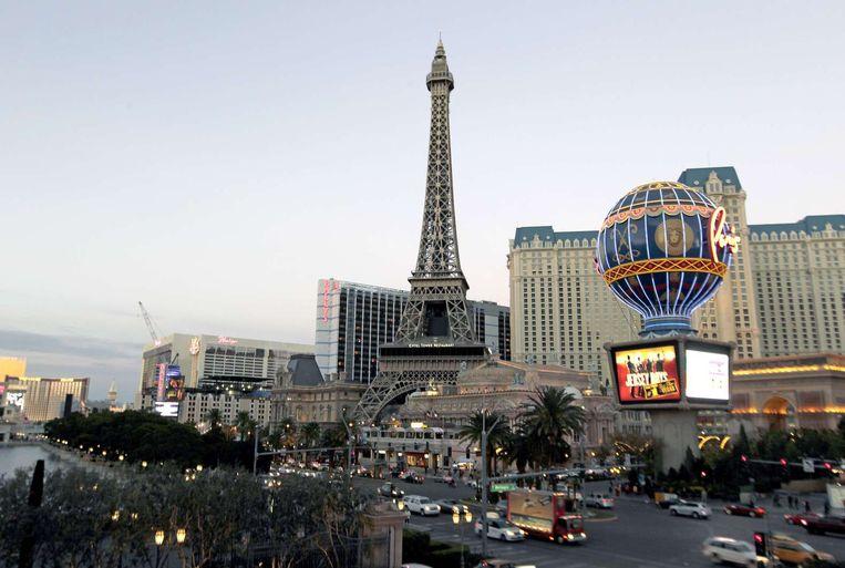 De 'strip' van Las Vegas, Nevada. Beeld AFP