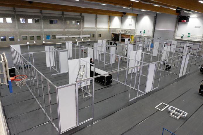 Het vaccinatiecentrum voor Klein-Brabant wordt ingericht in de  Sport- en Evenementenhal van Puurs-Sint-Amands.