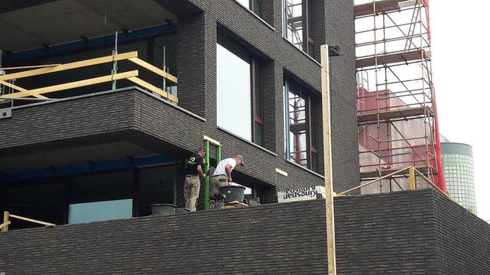 Bouw van appartementen aan de Bilderdijklaan in Eindhoven.