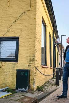 Nu schade aan pand bij bouwplaats in centrum van Maassluis: constructie is in gevaar