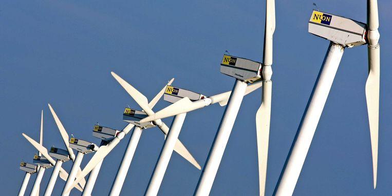Windmolens bij Lelystad. Beeld anp