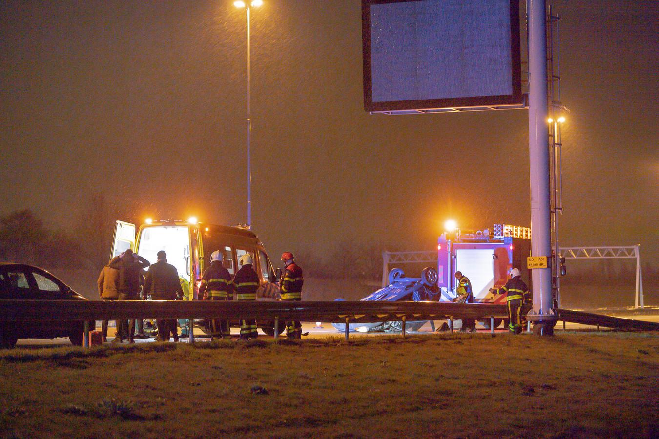 De auto van het slachtoffer sloeg over de kop.