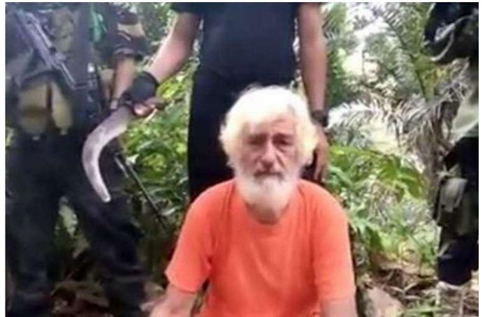 De 70-jarige Duitser Jurgen Kantner vlak voor zijn executie.