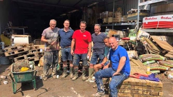 Vrijwilligers helpen ravage opruimen in Chênée