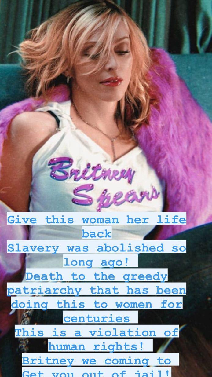 Madonna a pris la parole concernant la mise sous tutelle de Britney Spears.