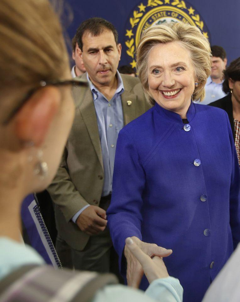 Clinton voert campagne in New Hampshire. Beeld ap