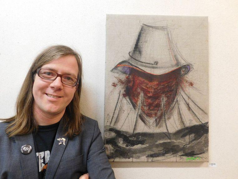 Van 4 november tot eind december vindt in de bibliotheek een tentoonstelling plaats met schilderijen van Peter Vereecken.
