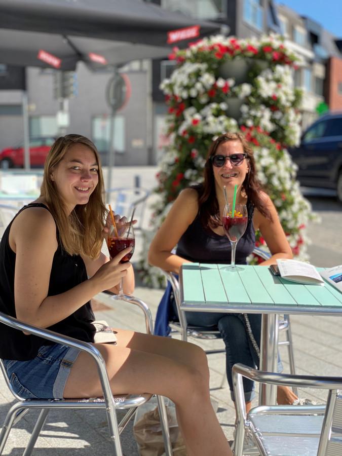 Een terrasje in Assenede.