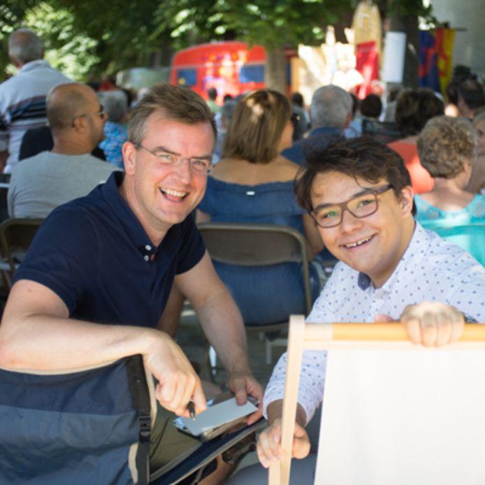 Jan Vanderkerken (links) tijdens de campagne