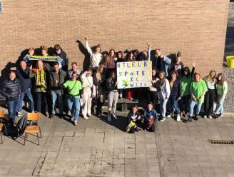 Leerlingen van Het Leerlabo supporteren KVC Westerlo naar de overwinning